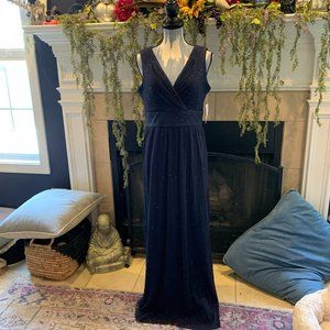R&M Collections Navy 2pc formal 8